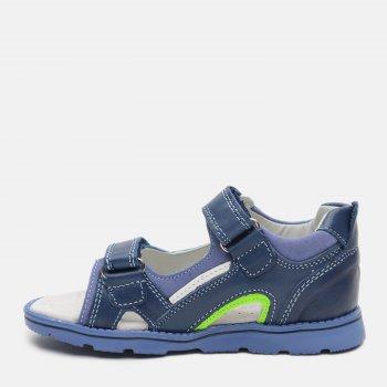 Сандалии кожаные Clibee AB37 Blue-Green