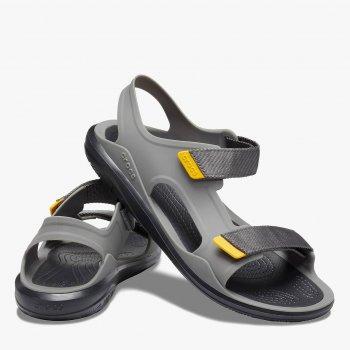 Сандалії Crocs Men's Swiftwater Molded Expedition Sandal 206526-0DY Сірі з чорним