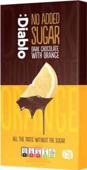 Черный шоколад Diablo без добавления сахара с апельсином 75 г (5060309490280)