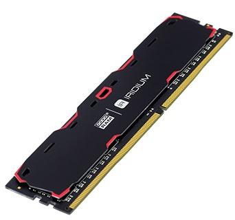 Оперативная память 4 ГБ, DDR4, Goodram IRDM Black (для настольных ПК, 2400 МГц, 1.2 В, CL15) БУ