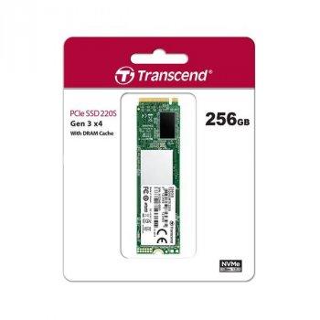 Твердотільний накопичувач SSD Transcend M. 2 NVMe PCIe 3.0 4x 256GB MTE220S 2280 (TS256GMTE220S)