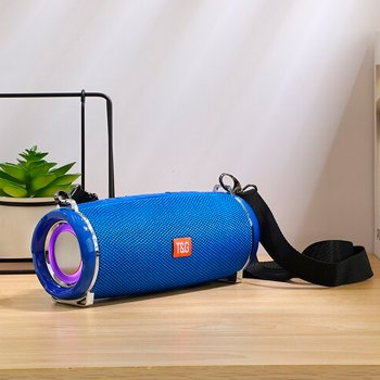 Bluetooth-колонка з LED підсвічуванням TG-165 10W 1200mAh Синій
