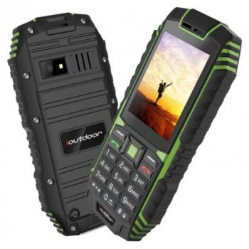 """Мобильный телефон iOutdoor T1 green Кнопочный IP68 2,4"""" 2100mAh (1215 zp)"""
