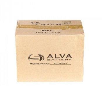 Аккумулятор свинцовый ALVA battery AD12-80