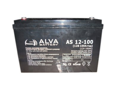 Аккумулятор свинцовый ALVA battery AS12-100