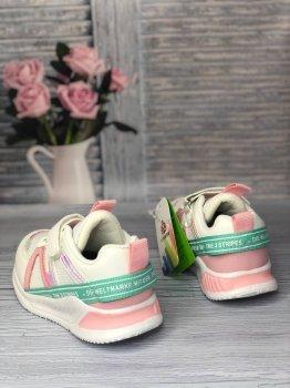 Кроссовки для девочки Kimboo белые с розовым
