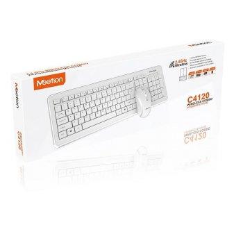 Бездротова клавіатура Wireless Meetion MT-C4120 USB RUS + Миша Wireless Білий