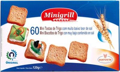 Упаковка тостов Diatosta Minigrill Пшеничные с низким содержанием соли 120 г х 4 шт (5601560112452)