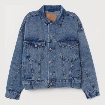 Джинсовая куртка H&M 0831174-1 Синяя