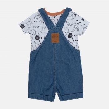 Комплект (полукомбинезон + футболка) Бемби KP240-811 Синий/Белый
