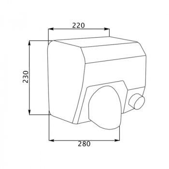 Сушилка для рук Lidz 2300 Вт (130.01.95) (ST-801347)