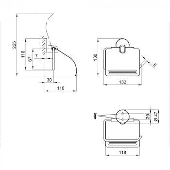 Тримач для туалетного паперу Lidz (CRM) 115.03.01