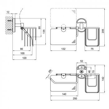 Тримач для туалетного паперу Lidz (CRM) 114.03.02
