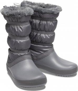 Сапоги Crocs Women's Crocband Winter Boot 205314-025 Серые