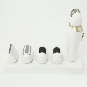 Эпилятор женский депилятор с насадками Gemei GM-7005 5в1, Белый