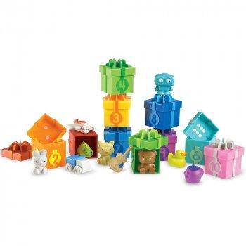 Розвиваючий набір для рахунку і сортування Коробки з подарунками (10 коробок) від Learning Resources