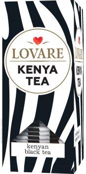 Чай черный пакетированный Lovare кенийский Kenya tea в индивидуальных конвертах 24 шт х 2 г (4820198874810)