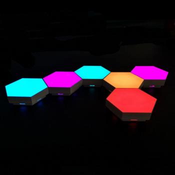 Настінний LED світильник Folem сенсорний, модульний, соти шестикутні з пультом 6 шт