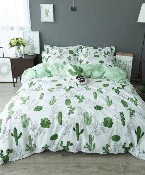 Комплект постільної білизни Zastelli Бязь Cactus 200x220 (2500000992346)