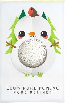 Спонж для особи Konjac sponge маленький Christmas Snowman