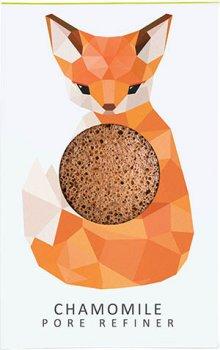 Спонж для особи Konjac sponge з конжаку і ромашкою маленький (лісова лисиця)