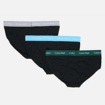 Труси-сліп Calvin Klein Underwear Hip Brief 3pk U2661G-M9F 3 шт. B-Jade Sea/Sky High/Sleek Silver