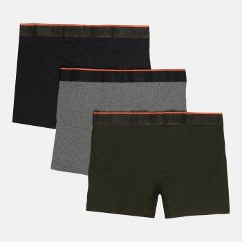 Труси-шорти Superdry Classic Boxer Triple Pack M3110082A-4IG 3 шт. Black/Darkest Charcoal Marl/Dark Green