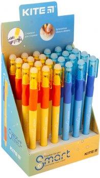 Набор гелевых ручек пиши-стирай Kite Smart Синих 0.5 мм прорезиненный корпус 24 шт (K19-098-02)