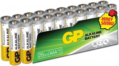 Батарейки GP SUPER ALKALINE 1.5 В 24AEPL-2VS20, LR03, AAA 20 шт (4891199147500)