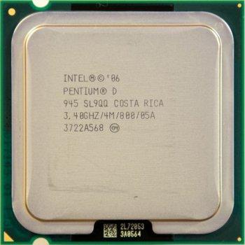 Процесор Intel Pentium D945 3.40 GHz/800MHz/4096k (SL9QQ) s775, tray