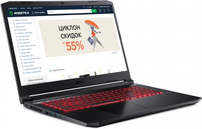 Ноутбук Acer Nitro 5 AN517-53-74ND (NH.QBKEU.00E) Shale Black