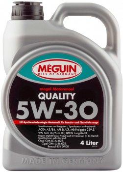 Моторна олива Meguin Quality SAE 5W-30 4 л (4015838090273)