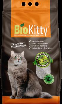 Наполнитель для кошачьего туалета BioKitty Super Premium White Aloe Vera Бентонитовый комкующий 8.4 кг (10 л) (8680659333234/8680659333494)
