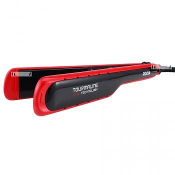 Утюжок випрямляч щипці для волосся професійний з керамічним покриттям Rozia 45W Black/Red (HR-709)