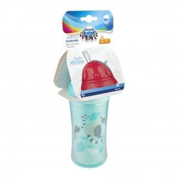 Пляшечки для годування Canpol Babies Пляшка з силіконовою трубочкою Лемур 260 мл (74/051)