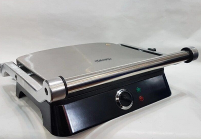 Гриль DSP KB-1001 електричний притискної з таймером 1400W Black/Silver