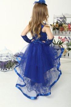 Нарядное платье со шлейфом I.V.A.moda Амалия 30 синий iva-514