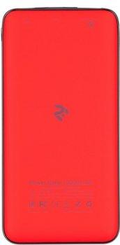 Універсальна мобільна батарея 2Е 10000mAh (DC 5V, out: QC3.0, MicroUSB, Type-C Inp., Soft, red)