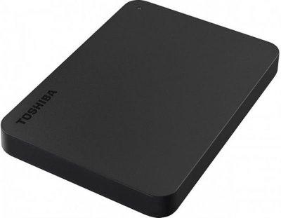 """Накопичувач зовнішній HDD 2.5"""" USB 1.0 TB Toshiba Canvio Basics Black + USB-адаптер C (HDTB410EK3ABH)"""