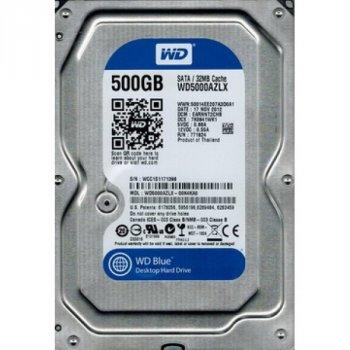 HDD SATA 500GB WD Blue 7200rpm 32MB (WD5000AZLX) Refurbished