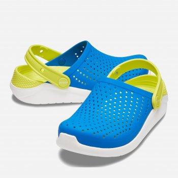 Крокси Crocs Kids' LiteRide 205964-4KF Сині з жовтим