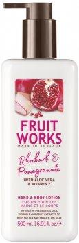 Лосьйон для рук і тіла Grace Cole Fruit Works Hand&Body Lotion Rhubarb & Pomegranate 500 мл (5055443645580)