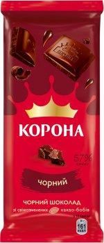 Упаковка шоколада Корона черного без добавок 85 г х 25 шт (7622201421403)