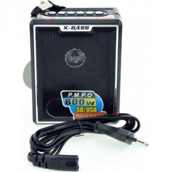 Акустическая система NNS аккумуляторный ретро радиоприемник колонка с радио и USB выходом под флешку Чёрный (X-BASS-047)