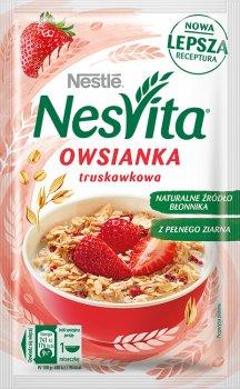 Упаковка каші вівсяної Nestle NesVita солодка з молоком і шматочками полуниці 21 шт. х 45 г (7613036971027)