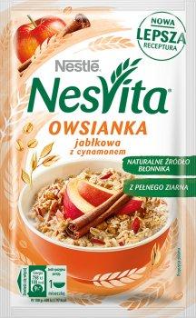 Упаковка каші вівсяної Nestle NesVita солодка з молоком і шматочками яблука 21 шт. х 45 г (7613036970273)