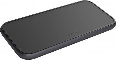 Беспроводное зарядное устройство Zens Dual 5 Coil Aluminium Charger Black (ZEDC11B/00)