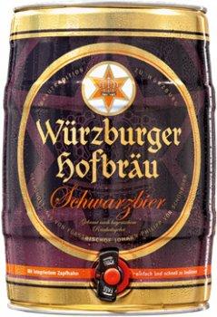 Пиво Würzburger Schwarzbier темне фільтроване 4.9% 5 л (4047900005540)