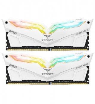 Модуль памяти DDR4 2x8GB/4000 Team T-Force Night Hawk White RGB (TF2D416G4000HC18EDC01)