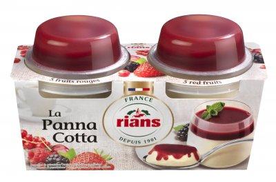 Десерт Rians Панна котта с красными фруктами 2х120 г